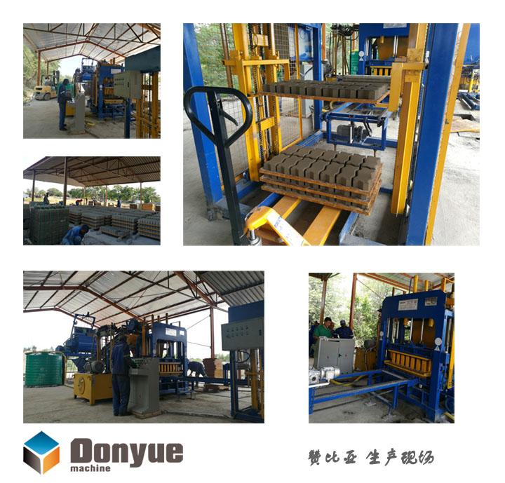免烧砖机生产过程